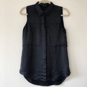 Theory black shirt top Duria size M